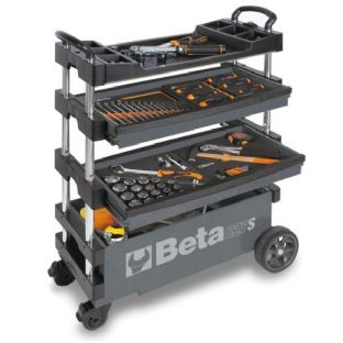 Beta C27S-G Folding Tool Trolley For Outdoor Jobs (Grey)